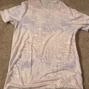 Lucy white & pastel snake print wool-mix t-shirt